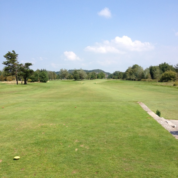 First hole grange over sands golf club